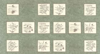 Moda - Prairie Grass - Holly Taylor - 6273 - Grasses Panel in Sage Green - 6750 12 - Cotton Fabric